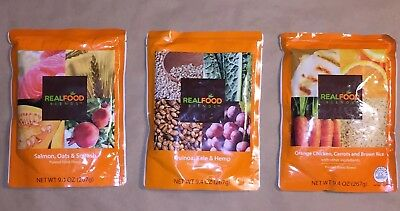 Real Food Blends Variety 9.4oz Single Pouch Chicken (3)  Salmon (4)  Quinoa (4)