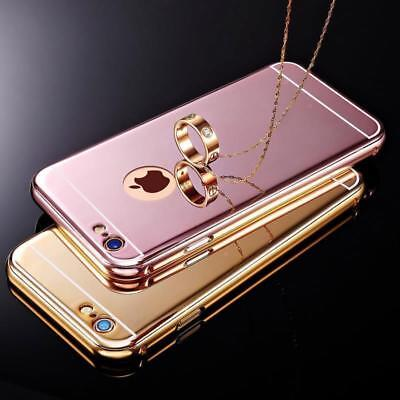 Luxury Aluminum Ultra thin Mirror Hard Metal Cover for iPhone 8 7 6s 6 Plus