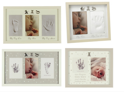 Bambino Hand and Foot Print Imprint Cast Kit Photo Frame New Baby Shower Gift