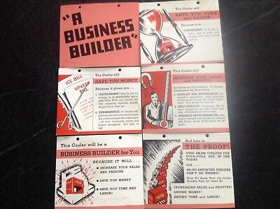 "Coca Cola Salesman Sample Cooler Booklet ""A BUSINESS BUILDER"" And Price Card"