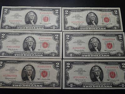(1) $2.00 Series 1963 United States Note VF Circulated Condition.