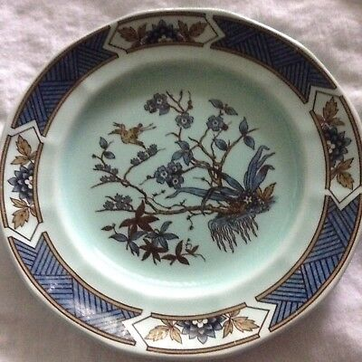 Pottery Blue Calyx Ware China Adams Wedgwood Group Serving Dish