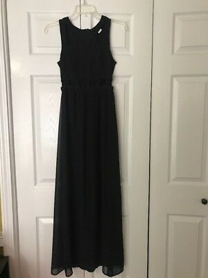 Divided Hm Womens Long Black Dress With Cutouts At Waist Size 2