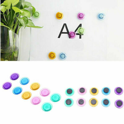 10pcs Fridge Memo Message Adsorb Buckle Note Whiteboard Magnetic Snap DIY Button