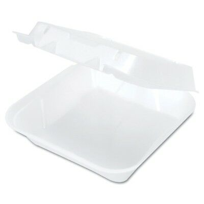 Snap-It Vented Foam Hinged Container, White, 8-1/4 x 8 x 3, 100/Bag, 2 Bags/CT