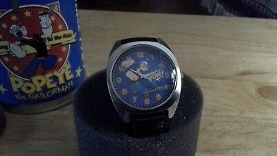 Collectible Popeye 75th Anniversary Watch in Tin in the original box