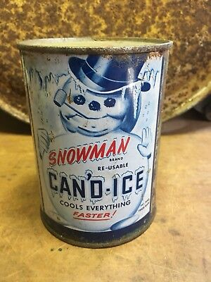 """Vintage Snowman Brand """"CAN'D-ICE"""" 1950's - """"Miracle Coolant"""""""