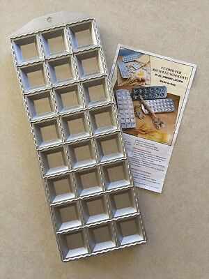 Heavy Aluminum Square Ravioli Maker 24 Cup Made in Italy NEW - FREE Shipping