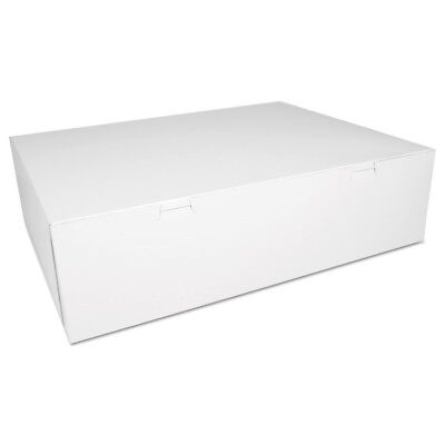 Bakery Boxes, White, Paperboard, 18 1/2 x 14 1/2 x 5, 50/Carton - SCH 1013