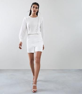 f89c86a3484 NEW REISS WOMENS Amiya Lace Detail Playsuit Off White -  280.00 ...