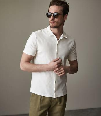 af16a26ef5 NEW REISS MENS Butler Ribbed Jersey Shirt White - $125.00 | PicClick