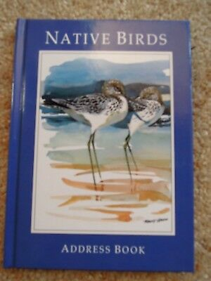 NATIVE BIRDS Address Book - ROBERT ULMANN Paintings  - NEW / UNUSED  *EXQUISITE*