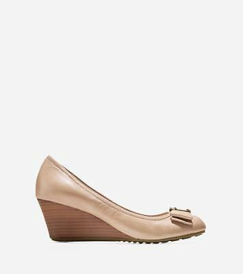 810ed47a6 NEW COLE HAAN Womens Tali Grand Bow Wedge (65Mm) - Maple Sugar ...