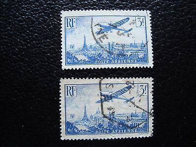 FRANCE - stamp yvert and tellier air n° 12 x2 obl (L1) stamp french