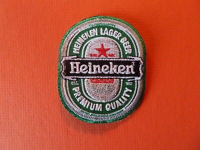 HEINEKEN BEER green & silver   Embroidered 2-3/8 x 3 Iron On  Patch