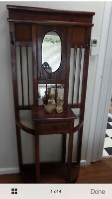 Hallstand Hall Stand Antique Style timber Good Condition
