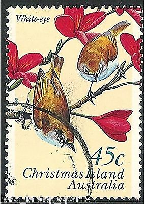 1996 Christmas Island Land Birds - 45c White-eye Used