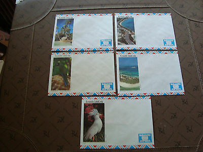 new caledonia 5 envelopes without stamp (cy15) new caledonia