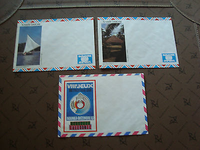 new caledonia 3 envelopes without stamp (cy15) new caledonia