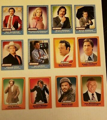 Anchorman The Legend Of Ron Burgundy Collectable Trading Card 12-card set