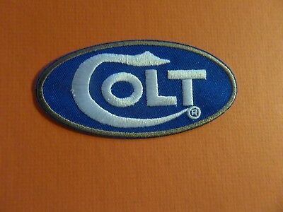 """""""COLT GUN MAKER  black& silver Embroidered 2 x 4 Iron On Patch"""