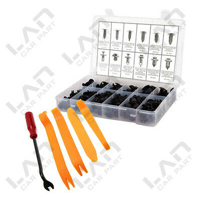 tool Kit 192pc Door Fenders Bumper Push Retainer Pin Rivet Trim Clip Fastener