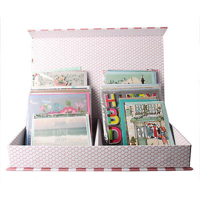30 All Occasion Handcrafted Greeting Cards Set + Matching Envelopes in Handy Box