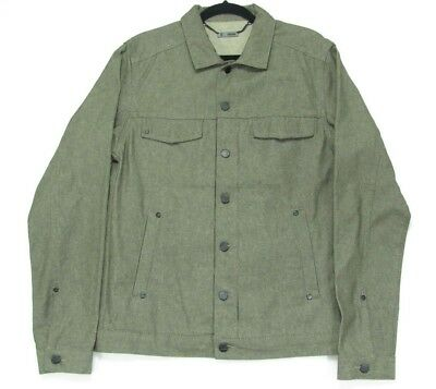 LNWOT COMUNE Army Green Button Front Lightweight Denim Jacket Size Large