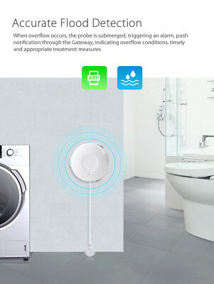 Smart Wifi Water Sensor Detection Water Leakage Alarm App Notification Alerts RL