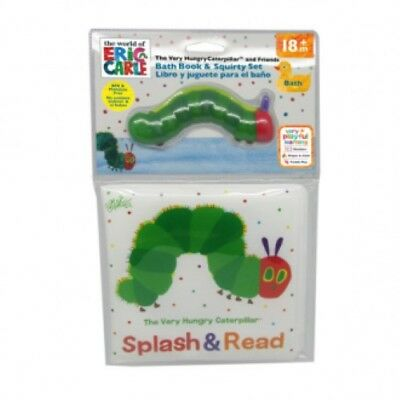 NEW The World of Eric Carle - Very Hungry Caterpillar Bath Book & Squirty Toy
