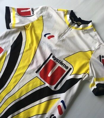 WHITE YELLOW SYSTEME U Cycling Top Jersey Short Sleeve - £14.99 ... b5c6c7574