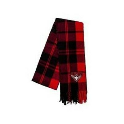 Essendon Bombers Official AFL Embroidered Tartan Scarf