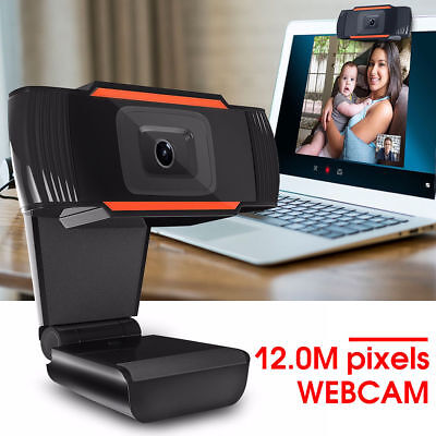 HD 12 Megapixels USB 2.0 Webcam Camera with MIC Clip-on for Computer PC Laptop