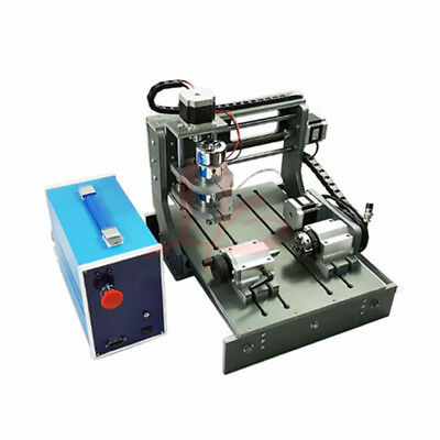 DIY 4axis CNC Router /Engraving Drilling  Milling Machine 2030 XYZ=200*300*58mm