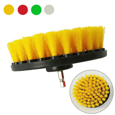 Electric Drill Brush Plastic Round Cleaning Brush For Carpet Glass  Car Tires
