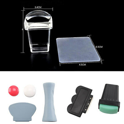 1 Set Polish Image Nail Stamper Set Nail Art Stamping Plate Scraper  Flexible
