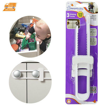 Baby Safety Drawer Locks Kids Proof Door Cabinet Secure Cupboard Sliding latches