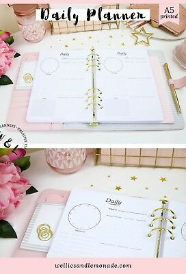 Daily planner 2019 Daily Organiser A5 Planner Refill Filofax Inserts