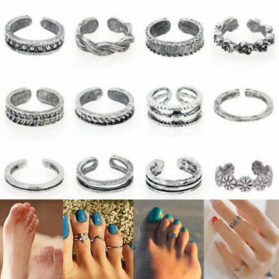 Lots Open Toe Ring Finger Foot Simple Celebrity Jewelry Retro Silver Fashion Set