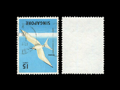 Singapore 1966-6 Def 15c Tern with inverted watermark variety, used