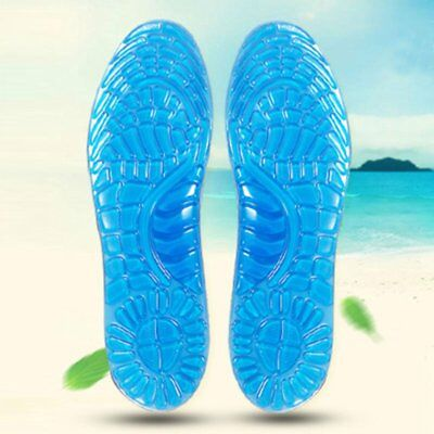 1Pair Shoe Silicone Gel Pad Insole Inserts Pain Relief Cushion Support Pad Blue