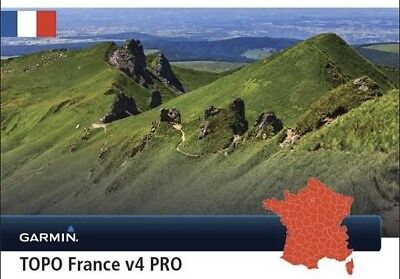 TOPO France V4 PRO map card for The entire France, for compatible Garmin GPS