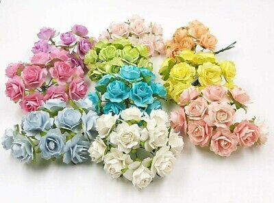 10 of Rose Flower Mulberry Paper Scrapbooking Card Crafts Wedding 2.50cm SW