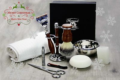 10 Pieces Luxury Men's Grooming Kit With 5 Edge Blade  Razor. Perfect Gift