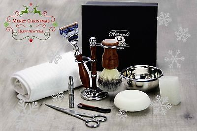 10 Pieces Luxury Men's Grooming Kit With Gillette Fusion Razor. Perfect Gift