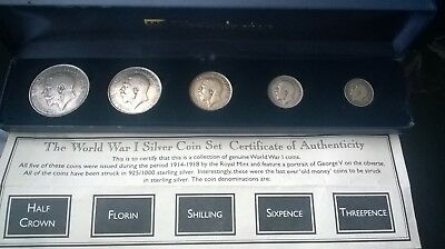 King George world war 1 silver coin set with certificate of authenticity