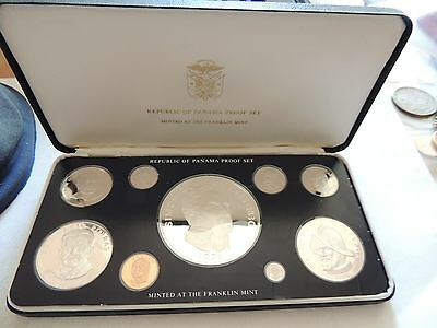 1976 Republic Of Panama Proof Coin Set With Display Case