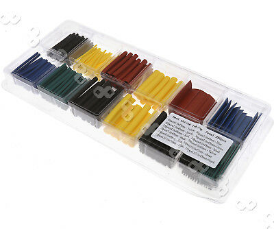 280 Pcs 5 Colors 8 Sizes Assorted 2:1 Heat Shrink Tubing Wire Wrap Sleeve Kit