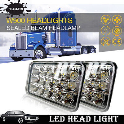Rectagular Sealed Beam LED Headlamps Headlights Bulb Pair for Chevy Pickup Truck