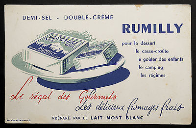 Buvard Publicitaire Ancien : Fromage Frais Rumilly